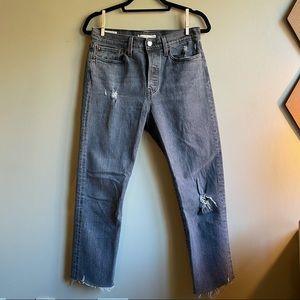 Levi's Women's Wedgie Straight Jeans Black 28